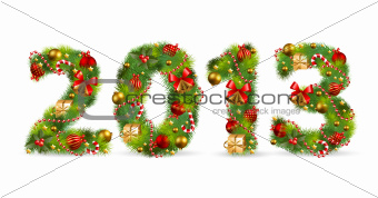 2013, Christmas tree font