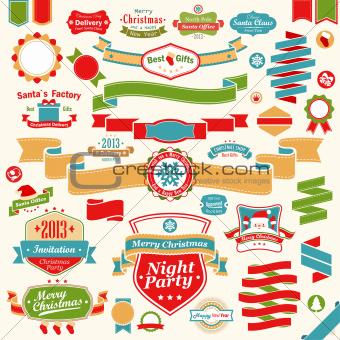 Christmas set - colorful ribbons