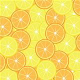 Slices of lemon and orange