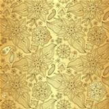 Gold lacy seamless pattern