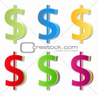 Paper Dollar Symbols
