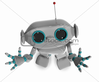 cheerful robot top