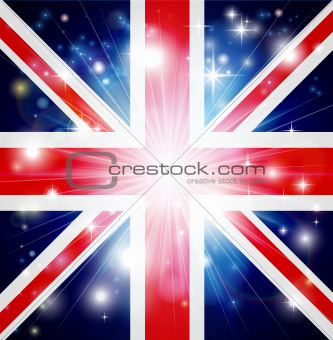 Union Jack flag background