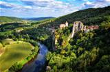 Cirq la Popie village on the cliffs scenic view, France