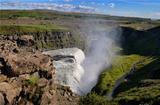 Gullfoss wild waterfall, strong running water, Iceland