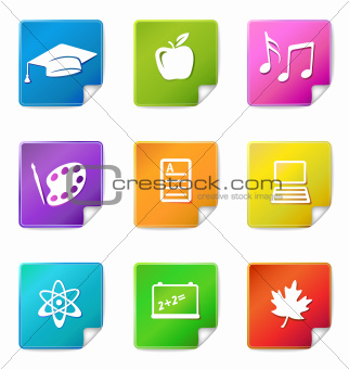 Education sticker icons