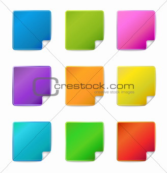 Blank sticker icons