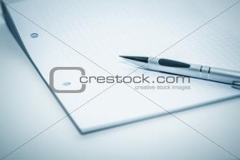 notepad and ballpen
