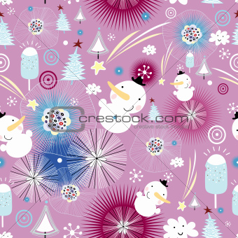 Christmas texture of the snowmen