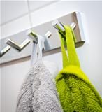 Two coloured towels