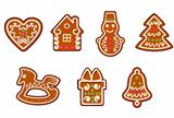 Gingerbread christmas objects