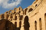 El Djem, Amphitheatre at sunny day