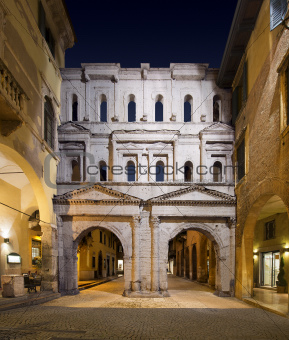 Porta Borsari by Night - Verona Italy - 1st century A.D.