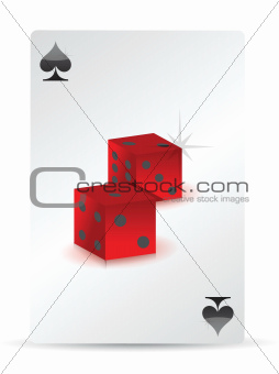 dice playing cards
