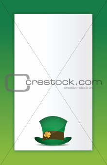 saint patricks hat background