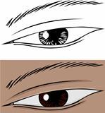 Slanted Eye Close Up