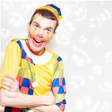 Happy Colorful Clown With Big Smile