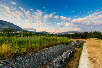Cemetery Ruins in the Ancient Town of Salona near Split, Croatia