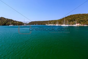 National Park Krka and Marina near Town of Skradin, Croatia