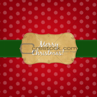 Vintage Red Merry Christmas Label