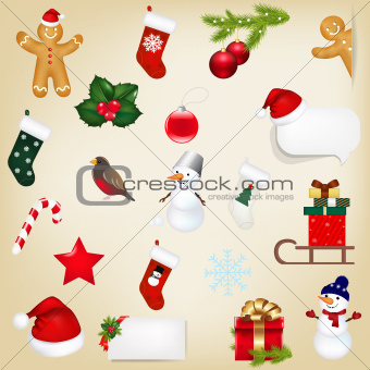 Big Set Christmas Icons