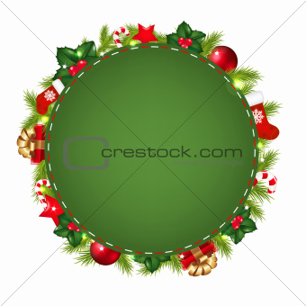 Green Speech Bubble With Christmas Icon
