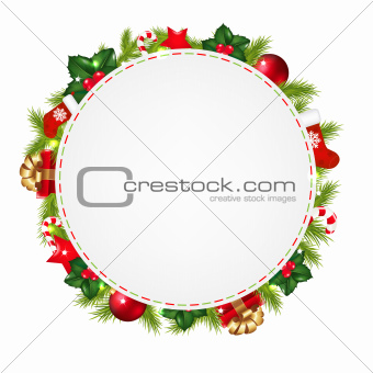 Speech Bubble With Christmas Icons
