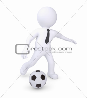 White human plays football