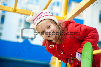 little girl on the playground
