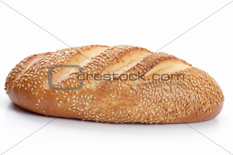 loaf of white bread with sesame seeds