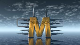 prickles letter m