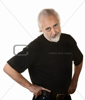 Frustrated Older Man