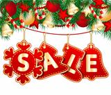 Christmas Sale Tags on christmas signs. Vector illustration