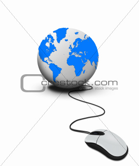 Mouse click the world