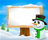 Christmas Snowman Sign