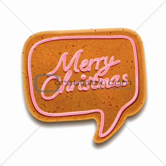 """Merry Christmas"" speech bubble gingerbread"