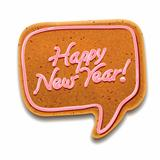 New Year speech bubble gingerbread