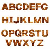 Alphabet - letters from rusty metal with rivets