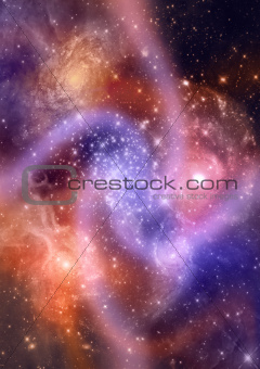 Star field in space