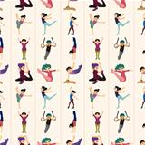 gymnastics seamless pattern