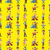 seamless rock band pattern