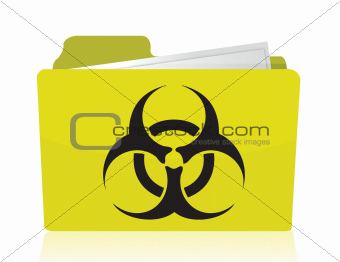 folder with a biohazard symbol in front