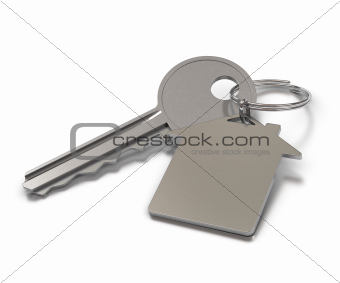 metal keyring with room for text