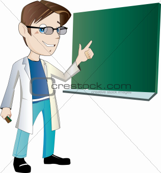 Male teacher/scientist
