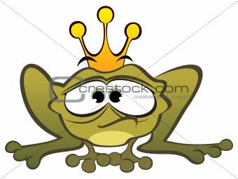 Depressed frog