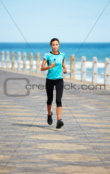 Going for a morning jog on the pier