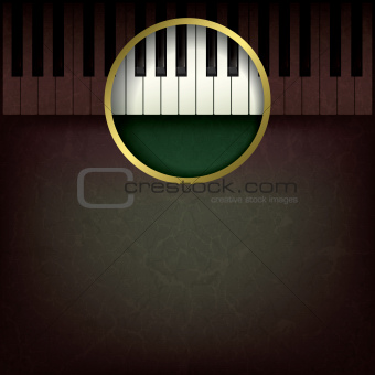 abstract music grunge background with piano