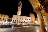 Piazza Erbe and Lamberti Tower in Verona