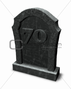 number seventy on gravestone