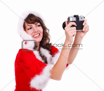 Taking photo of Mrs. Santa